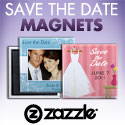 Save the Date Magnets with Zazzle