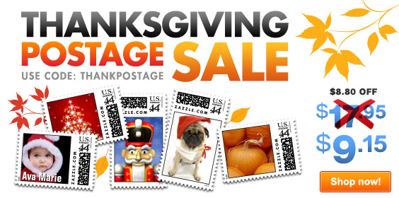 Annual Thanksgiving Postage Sale