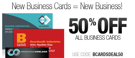 Need New Business Cards? Save 50% Now!