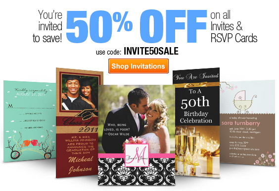 You're Invited to Save! 50% Off All Invites - 3 Days Only!