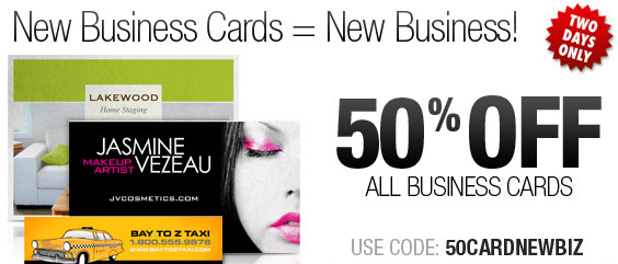 50% Off Business Cards - Two Days Only!