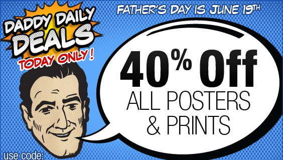 40% Off Posters - One Day Only!