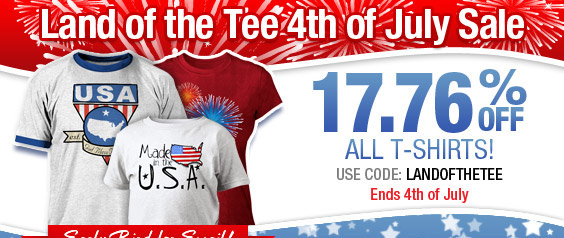 Email Early Bird - 17.76% Off T-Shirts!
