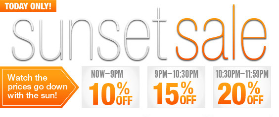 Sunset Sale - Watch these prices drop!