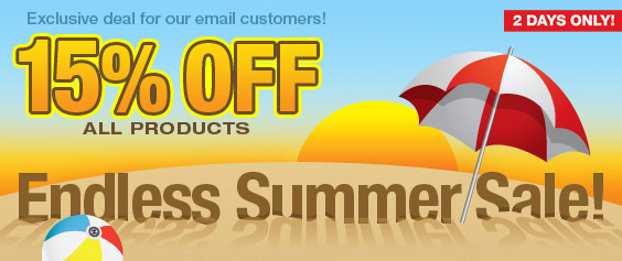 Endless Summer Sale! 15% off all products at Zazzle!