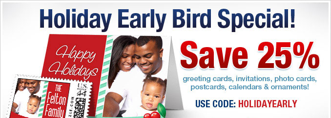 Last chance! Save 25% on cards, calendars & ornaments
