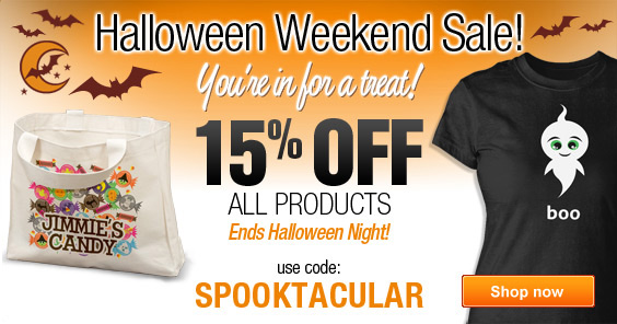 No tricks, just a Halloween treat - 15% off everything!
