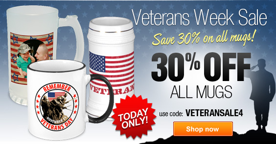 Today Only - 30% Off All Mugs on Zazzle!
