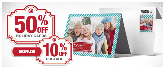 50% Off Cards & 10% Off Postage!