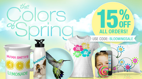 The colors of spring are everywhere! 15% off!