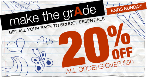 20% off Zazzle (PSST - back to school)
