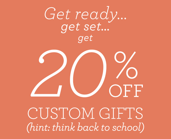 20% Off Everything! Perfect for Back to School!