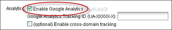 google analytics checkbox