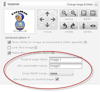 Advanced Options Tab make template object
