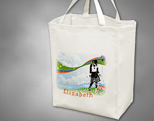 custom grocery bags picture