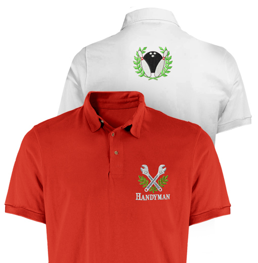 custom embroidery shirts and polos picture