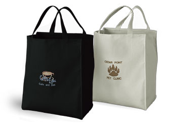 Promotional Tote Bags, Custom Canvas Tote Bags, Embroidered Tote