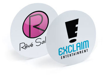 Event Merchandise Round Stickers