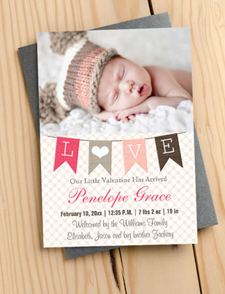 Valentine Baby Announcements