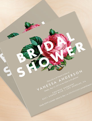 Browse the Floral Bridal Shower Invitations Collection and personalize by color, design, or style.
