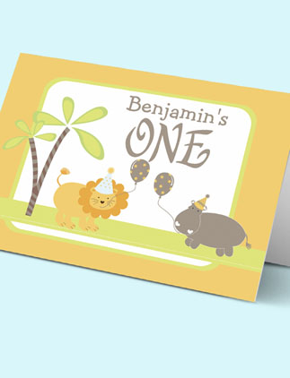 1st Birthday <br />Greeting Cards