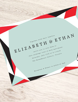 Geometric <br />Wedding Invitations