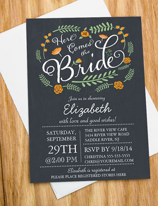Bridal <br />Shower Invites