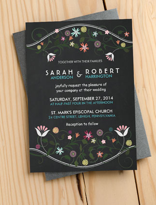 Wreath <br />Wedding Invitations