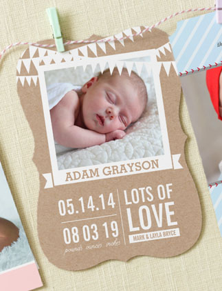 Rustic Baby Announcements