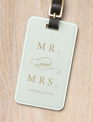 Mr. & Mrs. <br />Luggage Tags