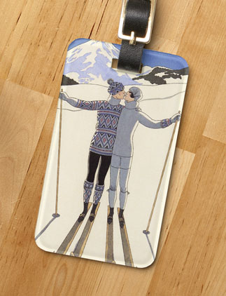 Winter Luggage Tags