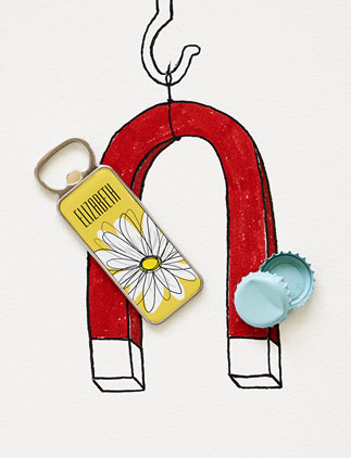 Girly Magnetic <br />Bottle Openers
