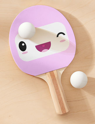 Cute Ping Pong Paddles