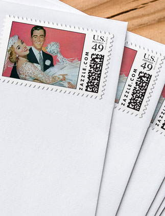 Retro <br />Wedding Postage