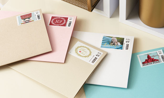 Browse the Holiday Stamps Collection and personalize by color, design, or style.