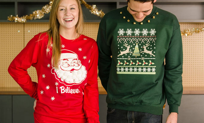 Browse the Holiday T-Shirt Collection and personalize by color, design, or style.