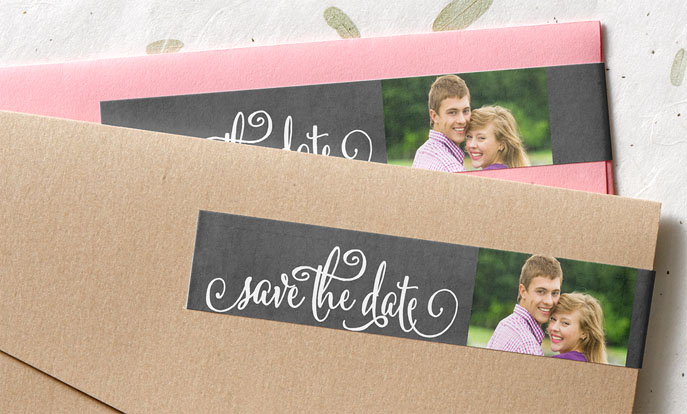 Save the Date Wraparound Labels