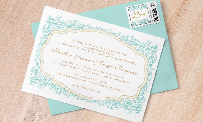 Create your very own Wedding Invitations and personalize by color, design, or style.