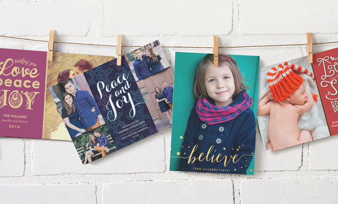 Shop custom Holiday Cards and customize them with your own photo, text or design.
